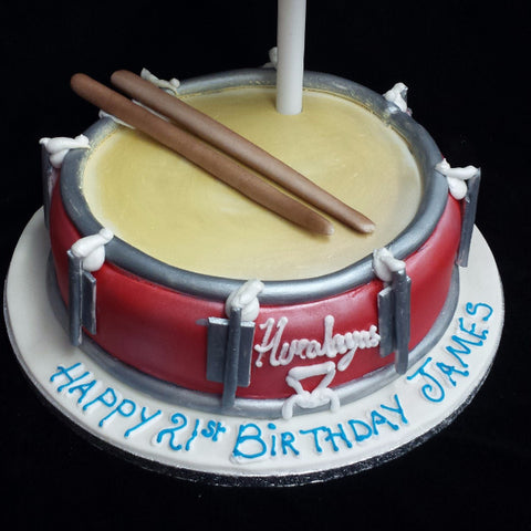 Drums Birthday Cake Celticcakes