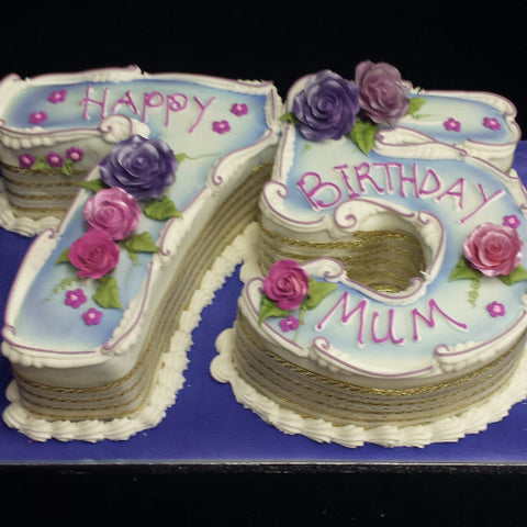 75th Numbered Birthday Cake celticcakescom