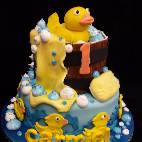 2 Tier Ducks  Childrens Birthday Cake