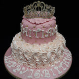 2 Tier Crown Birthday Cake