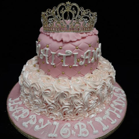 Fabulous 2 Tier Crown Birthday Cake Celticcakes Com Funny Birthday Cards Online Inifofree Goldxyz