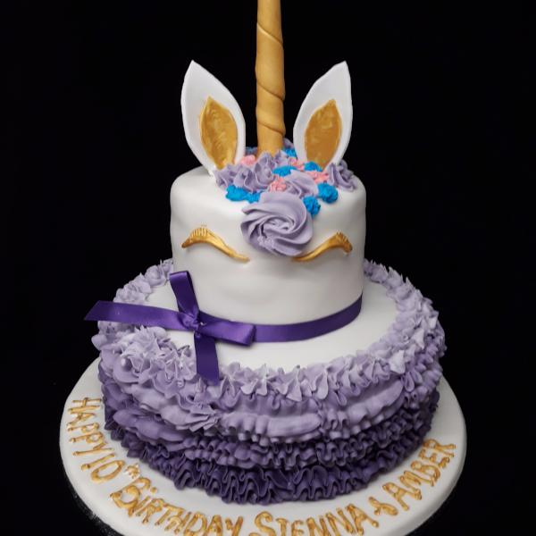 2 Tier  Unicorn  Birthday Cake