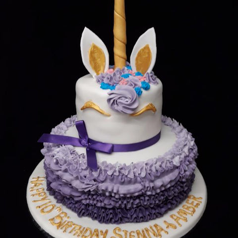 2 Tier Unicorn Birthday Cake Celticcakes