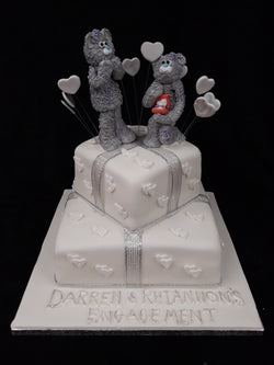 Proposing Bears Engagement Cake