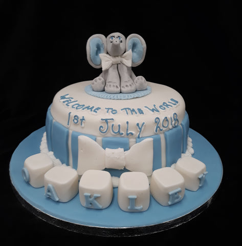 One Tier Baby Shower/Christening Cake