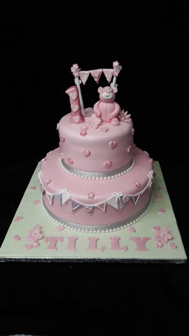 2 Tier Teddy Cake