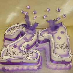 21 Stars  Numbered Birthday Cake