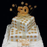 2 Tier Star Birthday Cake