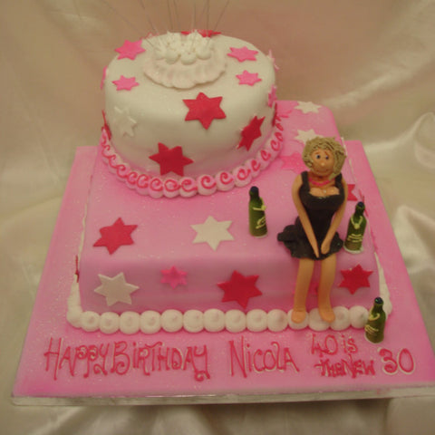 Terrific 2 Tier Birthday Girl Cake Celticcakes Com Funny Birthday Cards Online Fluifree Goldxyz