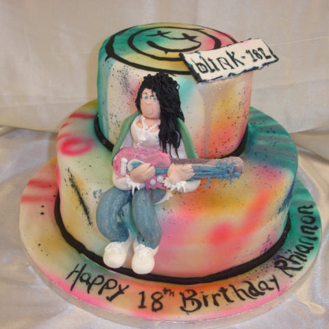 2 Tier Guitarist  Birthday Cake