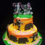 2 Tier Elephant  Birthday Cake