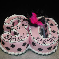 30th Stars Numbered Birthday Cake