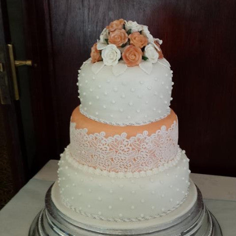 3 Tier  Lace Wedding Cake