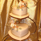 3 Tier Heart Shaped  Wedding Cake