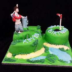 50th Golfer Numbered Birthday Cake