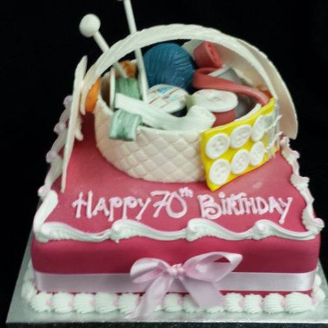 Craft Basket  Birthday Cake