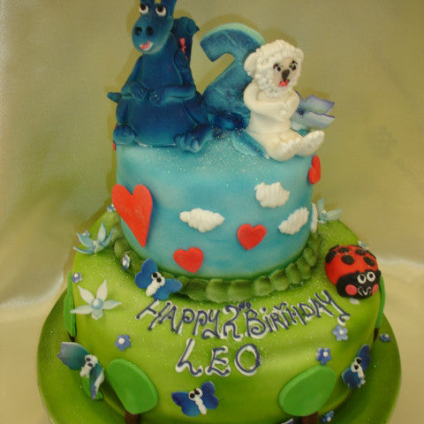 Blue Dragon Childrens Birthday Cake