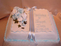 Christening Book with roses