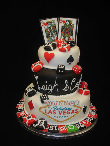 3 Tier  Las Vegas Wedding Cake