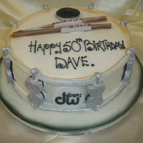 Drum Birthday Cake - UK DELIVERY