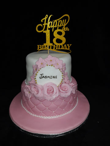 Two Tier Elegant 18th Birthday Cake