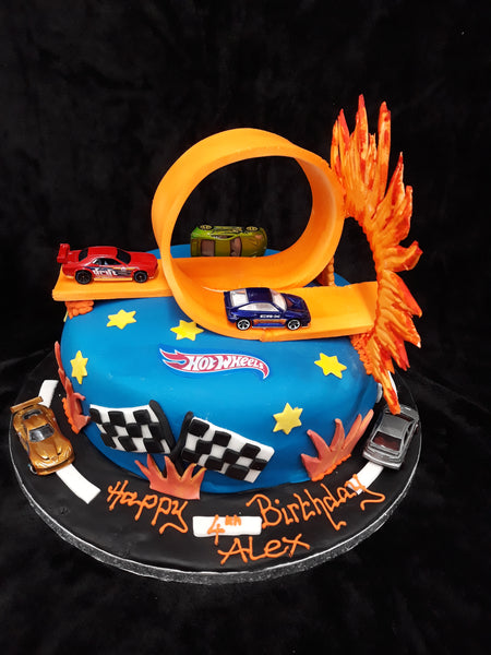 Hotwheels Birthday Cake