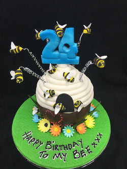 Bee Hive Birthday Cake