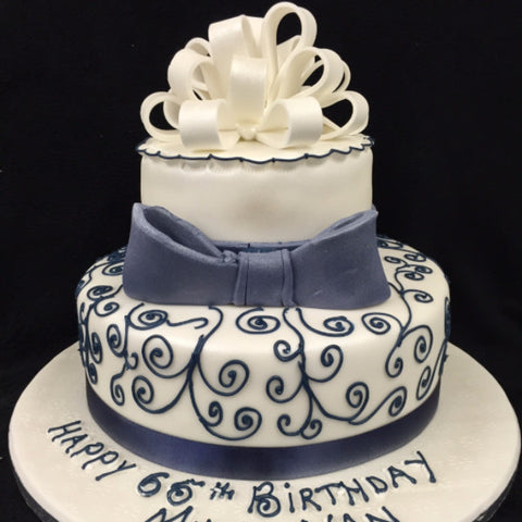 2 Tier Elegant Birthday Cake Celticcakes