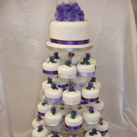 Tower Of Individual Wedding Cakes 1