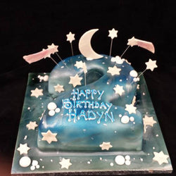2nd Birthday Stars  Numbered Birthday Cake