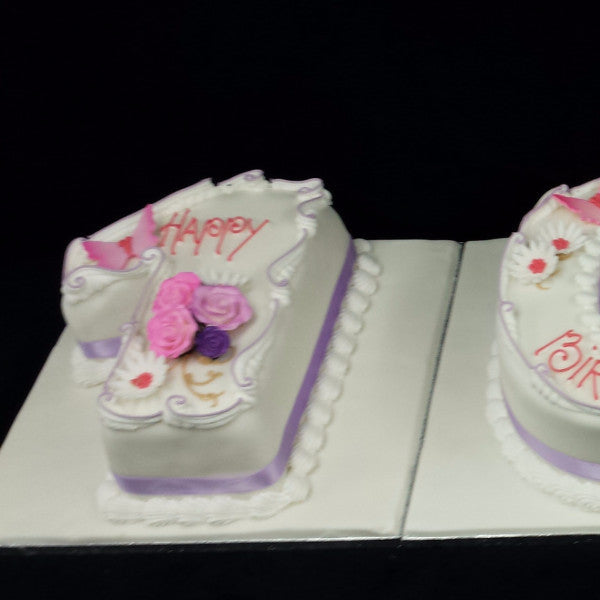 100th Numbered Birthday Cake