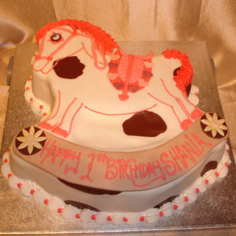 Rocking Horse Childrens Birthday Cake