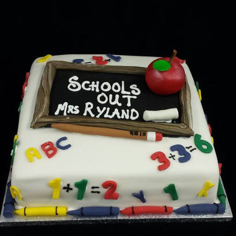 Schools Out Childrens Birthday Cake