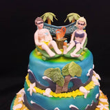 Sun Bather 2 Tier Birthday Cake