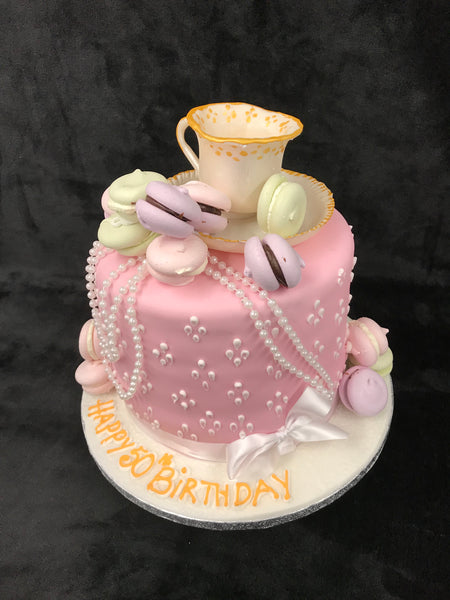 Tea Cup  Birthday Cake