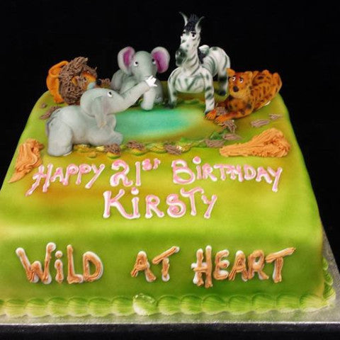 Wild at Heart Childrens Birthday Cake