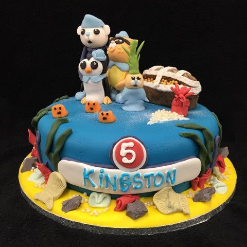 Sea Creatures Childrens Cake