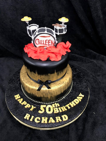 Two Tier Drum   Birthday Cake