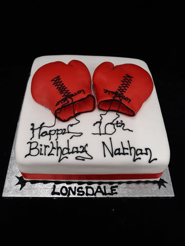 Boxing Gloves Birthday Cake//
