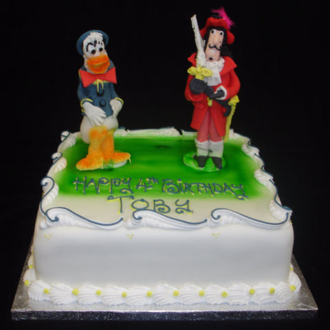 Captain Hook & Donald Duck Childrens Birthday Cake