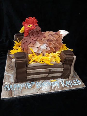 Fantastic Chicken Birthday Cake Celticcakes Com Personalised Birthday Cards Sponlily Jamesorg