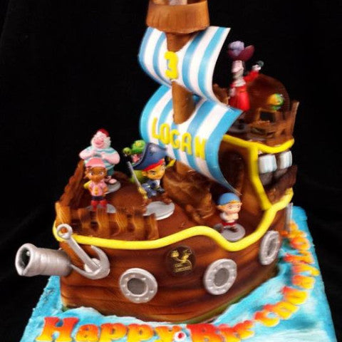 Outstanding Childrens Pirate Birthday Cake Celticcakes Com Funny Birthday Cards Online Alyptdamsfinfo