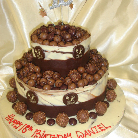 Brilliant 2 Tier Chocolate Birthday Cake Celticcakes Com Funny Birthday Cards Online Overcheapnameinfo