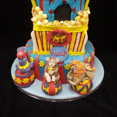 3 Tier Childrens Circus Cake