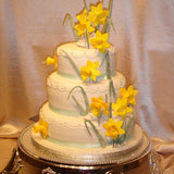 3 Tier Daffodil Wedding Cake