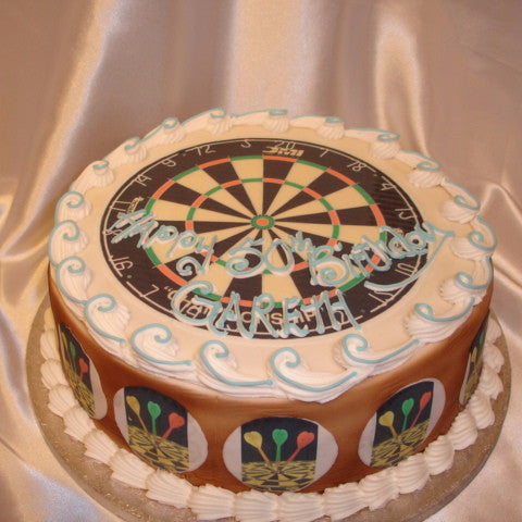 Dartboard  Birthday Cake - UK DELIVERY