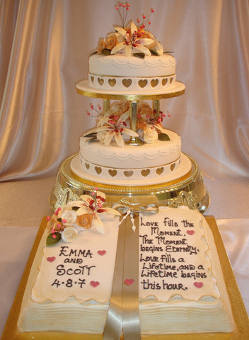 book wedding cake 2 tier wedding cake with book celticcakes 12094
