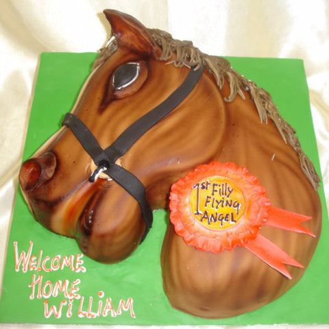 Astounding Horse Birthday Cake Celticcakes Com Funny Birthday Cards Online Fluifree Goldxyz