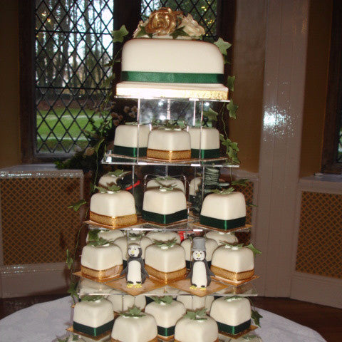 Tower Of Individual Wedding Cakes 4