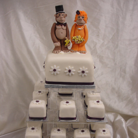 Tower Of Individual Wedding Cakes 3